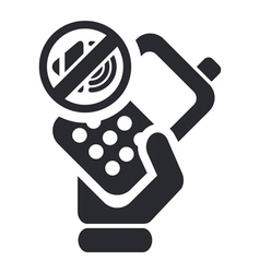 Mute phone icon vector