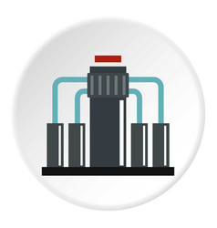 Oil refining icon circle vector