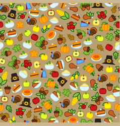 pattern with abstract thanksgiving day icon vector image