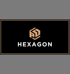 Pd hexagon logo design inspiration vector