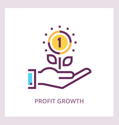 profit growth icon investments and savings vector image