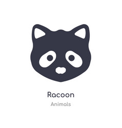 Racoon icon isolated icon from animals vector