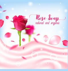 rose natural organic soap poster vector image