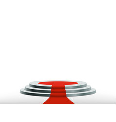 round podium with red carpet vector image