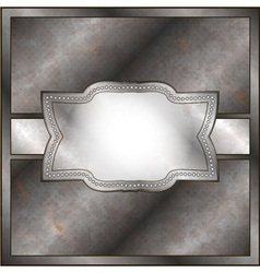 Rusty metal frame vector image