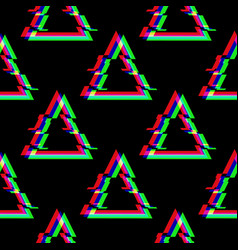 seamless pattern with symbol triangle in vector image