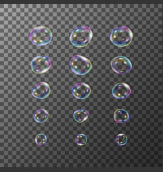 set bubbles vector image