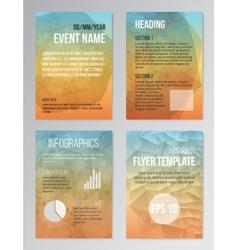 set poster brochure design templates vector image