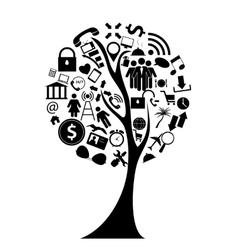 Tree social media concept vector