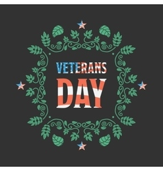Veteran day badge vector