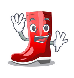 Waving single of boots isolated on mascot vector