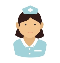 woman cartoon nurse design vector image
