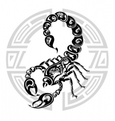 zodiac wheel with sign Scorpio vector image