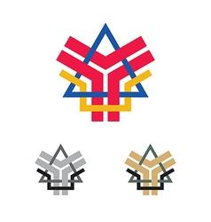abstract company emblem vector image
