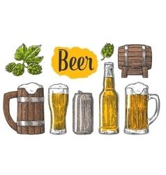 Beer class can bottle barrel vector