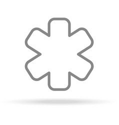 emergency icon in trendy thin line style isolated vector image vector image