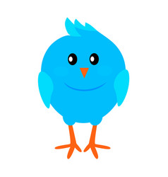 little funny blue bird flat icon vector image