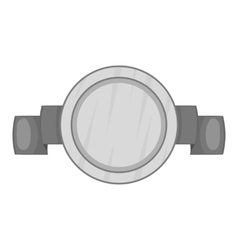 Round badge with ribbon icon vector image