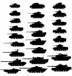 tanks vector image vector image