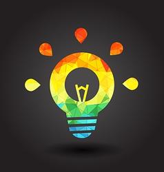 Abstract light bulb vector image