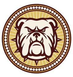 angry Bulldog head symbol vector image