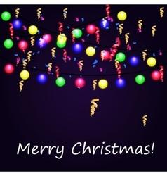 Christmas Light Garland vector image