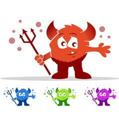 Cute Devil Monster vector image vector image