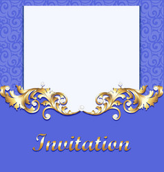Elegant background with gold ornament vector image vector image