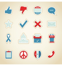 Political icons vector