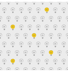 Seamless light bulbs beige pattern vector image vector image