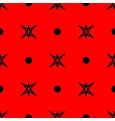 Star and polka dot geometric seamless pattern 15 vector image