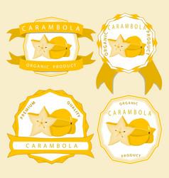 the theme carambola vector image
