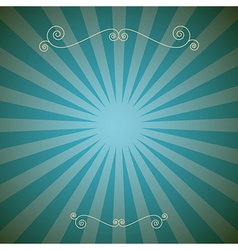 Vintage Abstract Retro Blue Background vector image