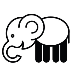 Cute animal elephant - vector image vector image