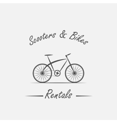 Rent sale - bicycles mopeds and scooters vector image vector image