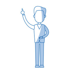 standing man business character professional vector image vector image