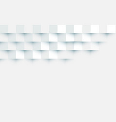 abstract white squares repeating background space vector image