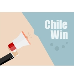 Chile win Flat design business vector image
