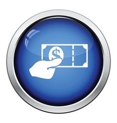 Hand holding money icon vector image vector image