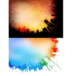 urban backgrounds vector image vector image