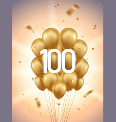 100th year anniversary background vector