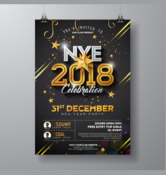 2018 new year party celebration poster template vector