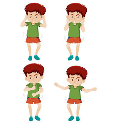 a boy shmoney dance move vector image