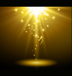Abstract light background magic light with gold vector