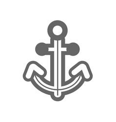 anchor outline icon summer marine vector image