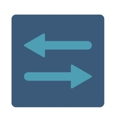 Arrows Exchange Horizontal flat cyan and blue vector