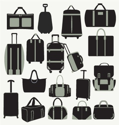 Baggage theme icons vector image