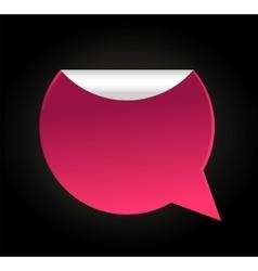 Bubble quote comma symbol badge vector
