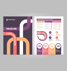 business flyer template design with infographic vector image