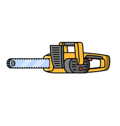 chainsaw grinder construction electric tool vector image